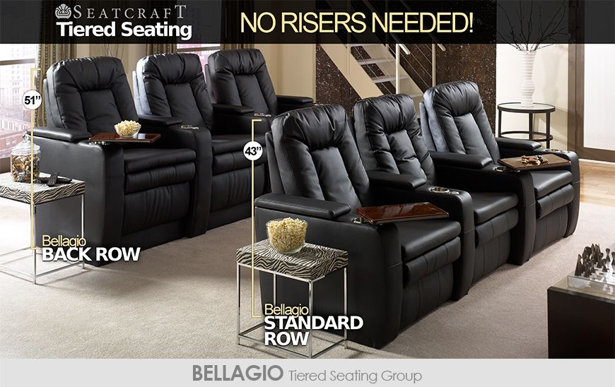Seatcraft Tiered Home Theater Seating Without Risers Home