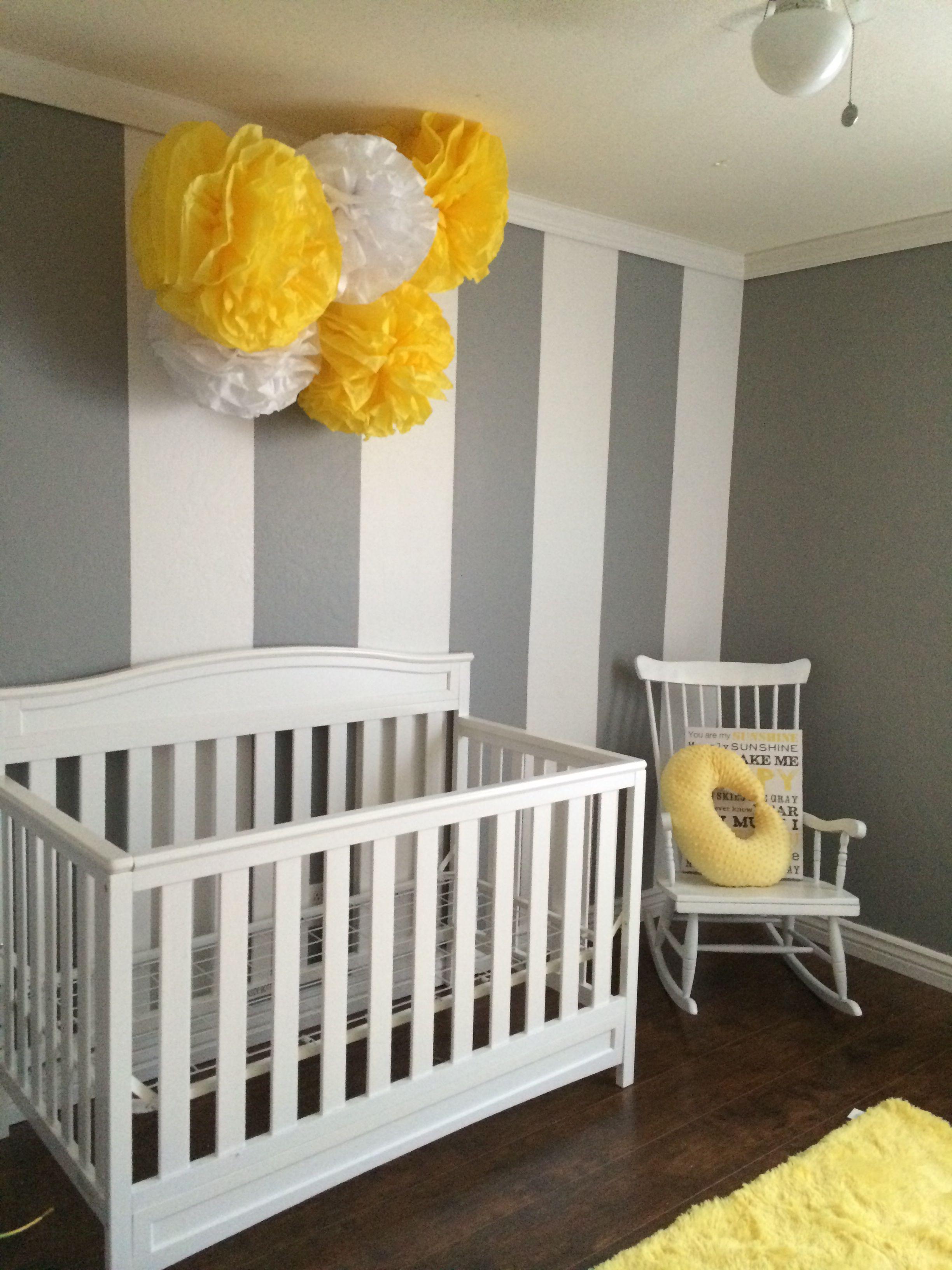 Yellow and grey nursery