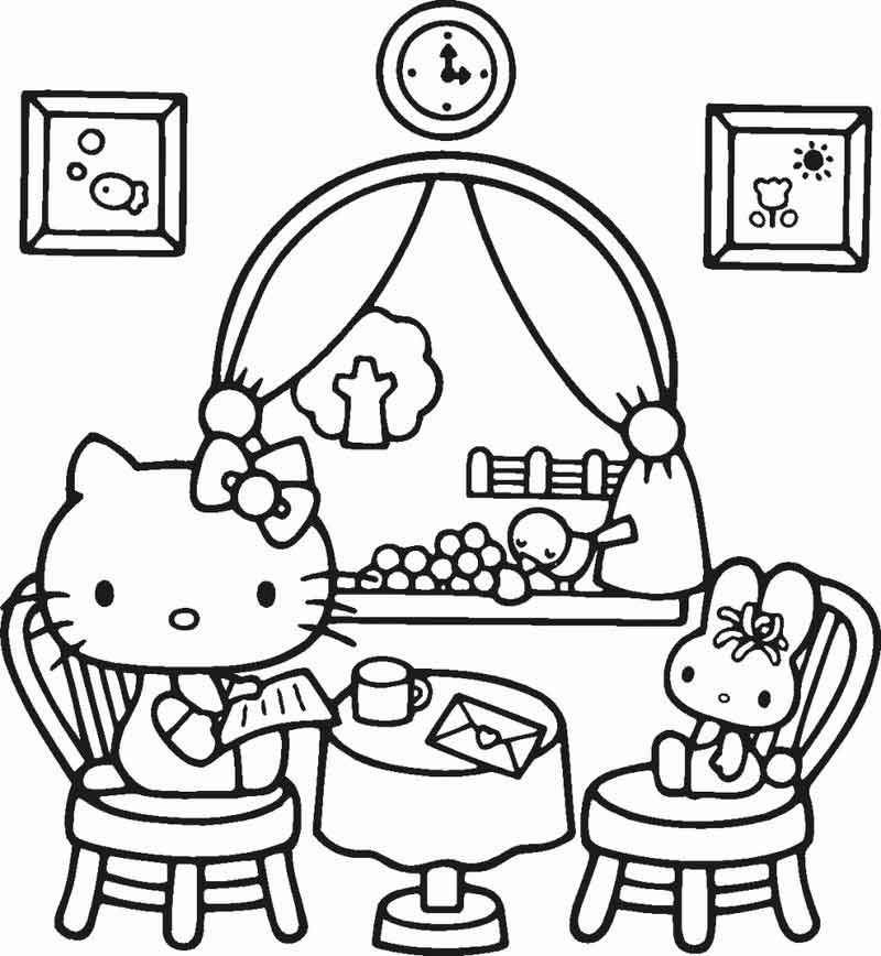 Hello Kitty Valentine Coloring Pages from Cartoon Coloring Pages ...
