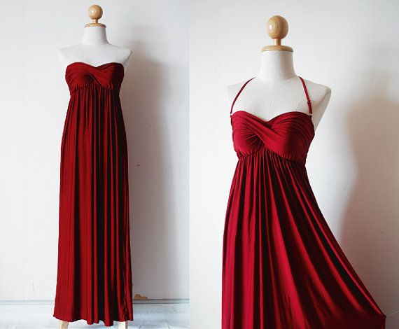 SEESTER! Attention: Gorgeous MaroonEvening Dress on Etsy, $55.00