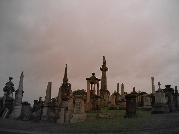 Glasgow Necropolis wurde in Großbritannien, Glasgow ...