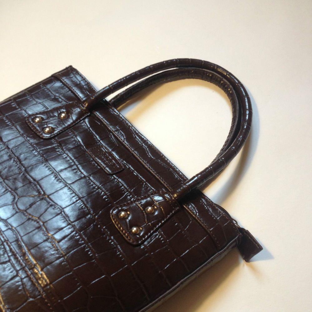Osprey womens leather gloves - Osprey London Women S Brown Mock Croc Handbag Leather Designer Bag Ebay