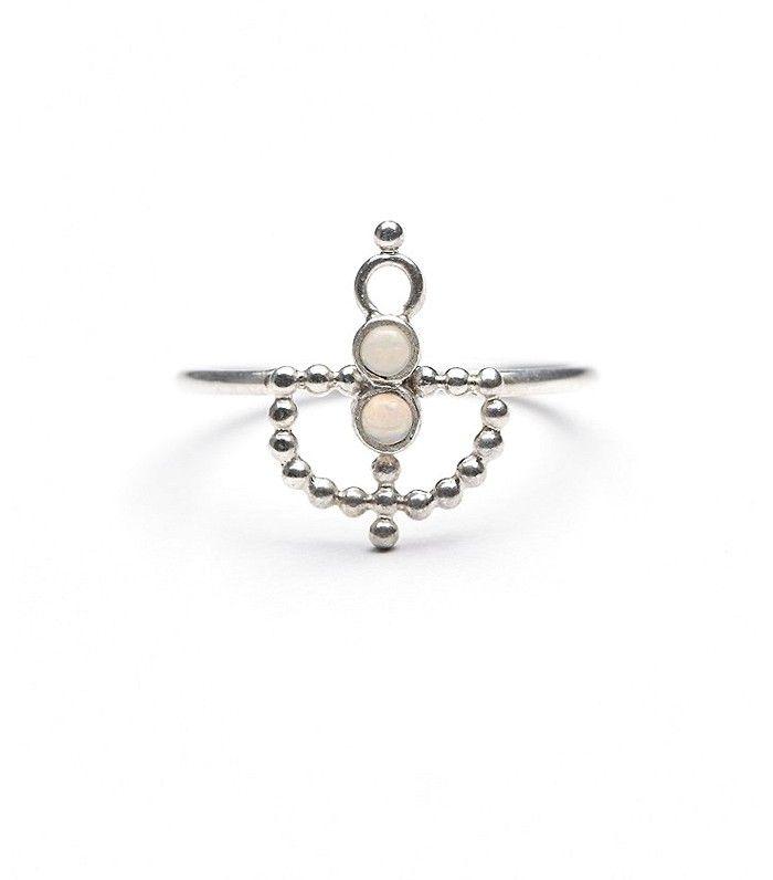 Ono Jewelry Mercury Palms Ring in silver
