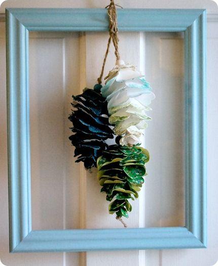 Pinecone, Fabrics And Christmas Ornament