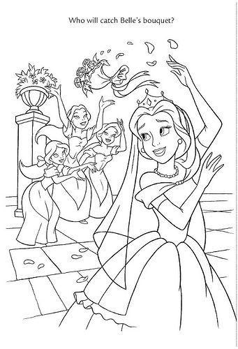 disney wedding coloring pages - photo#19