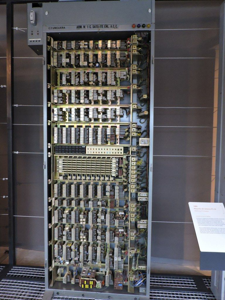 Museo Telecomunicaciones - Bastidor de relés de una central PentaConta 32 de…