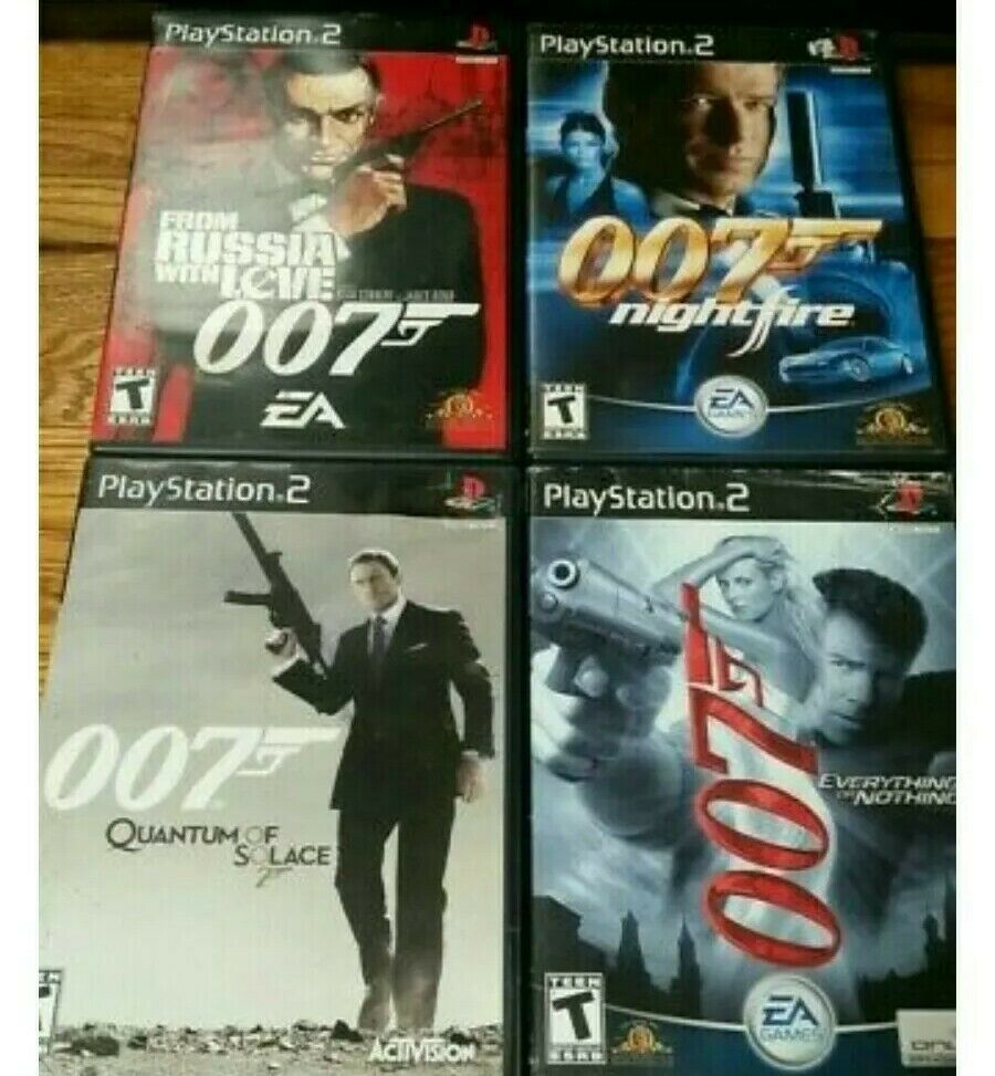 Free Shipping James Bond 007 Ps2 Series Sony Playstation 2 Connery