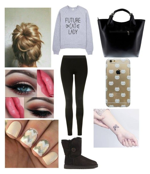"""""""Brookelynn"""" by ashlynl12323 on Polyvore featuring Topshop, UGG Australia and Massimo Castelli"""