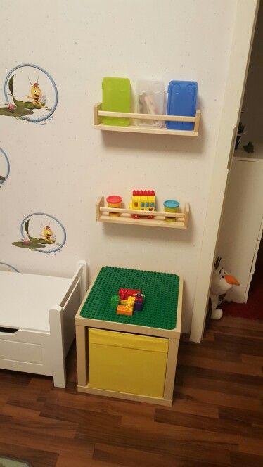 Multifunktionstisch, Duplo und Lego bauen, rechts und links