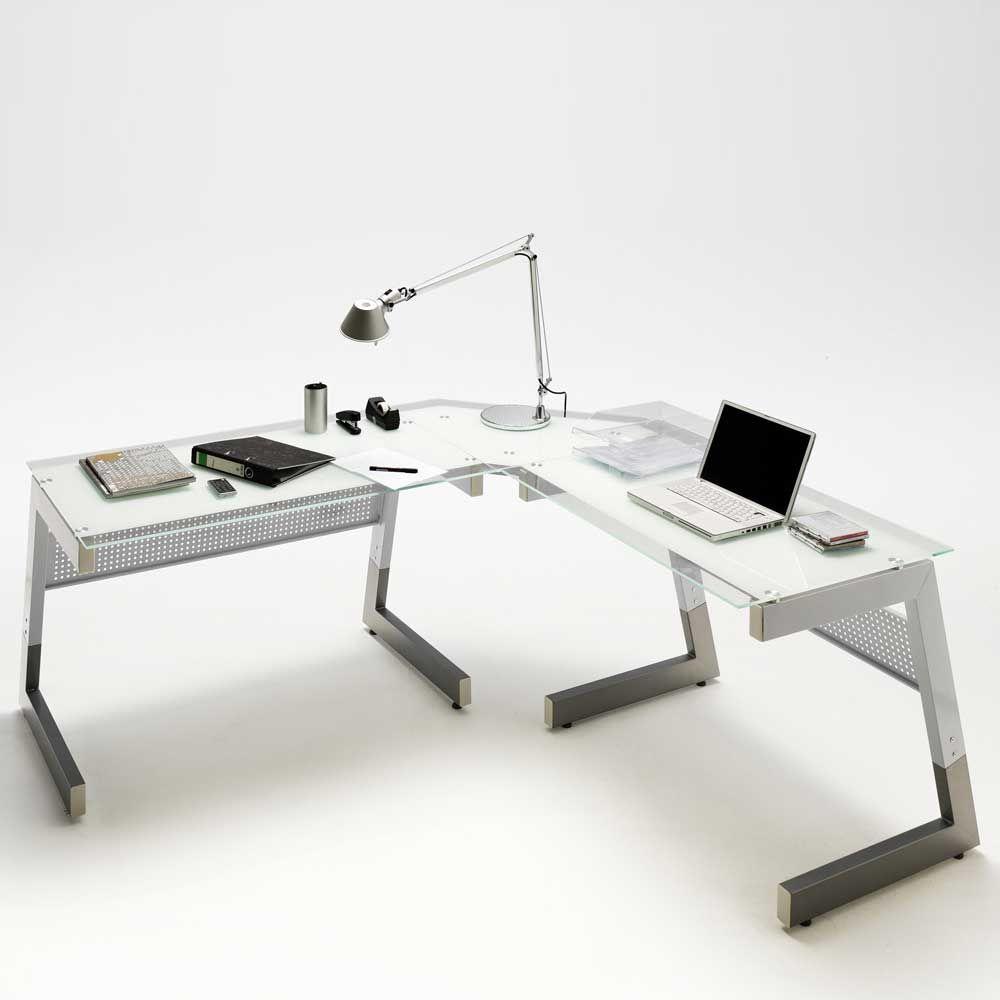 Schreibtisch Winkelkombination In Weiss Glas 3 Teilig Jetzt Bestellen Unter Https Moebel Ladendirekt De Buero Tische Sc Schreibtisch Tisch Glasschreibtisch