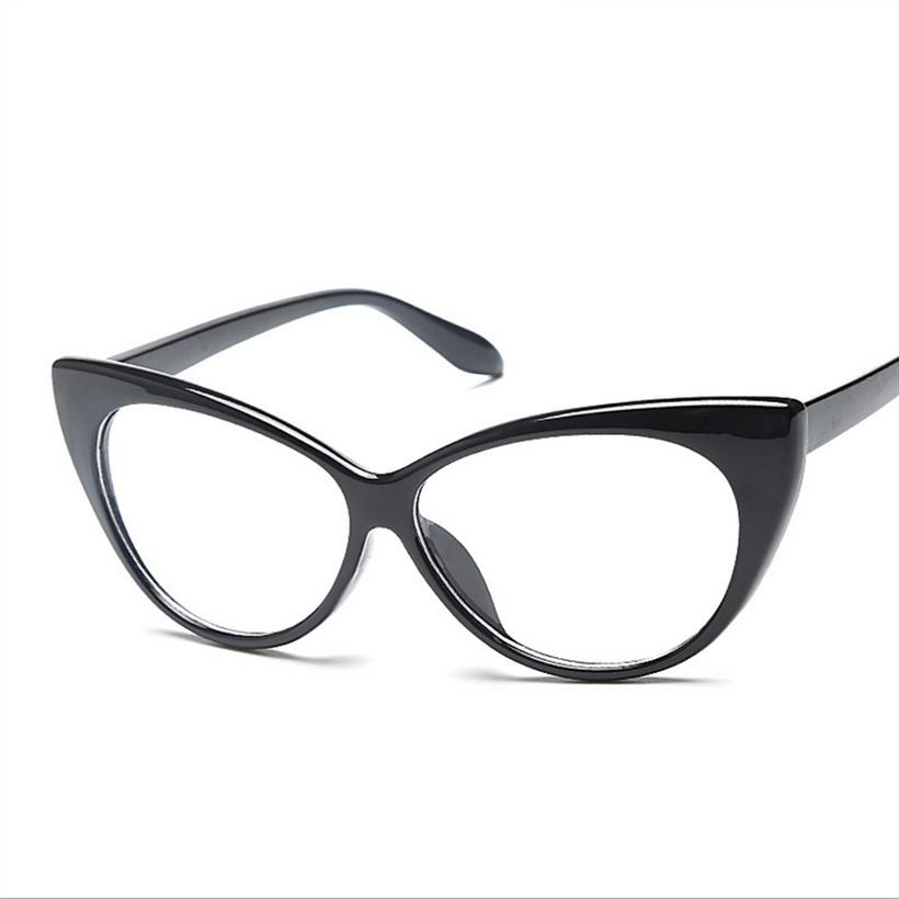 Fashion Women Cat Eye Glasses Frames Cat\'s Eye Clear Eyeglasses ...