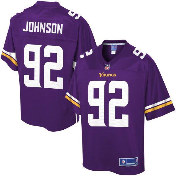 7472ebf1cf1 NFL Pro Line Mens Minnesota Vikings George Johnson Team Color Jersey -  Purple - 99.99 ...