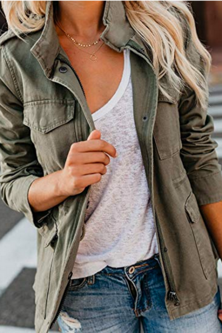 Casual Olive Green Jacket Outfits Military Jacket Outfits Army Green Jacket Outfit [ 1102 x 735 Pixel ]