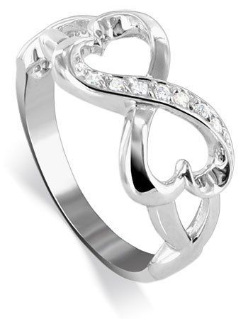 925 Sterling Silver Polished Finish Heart Ring Size 5-9