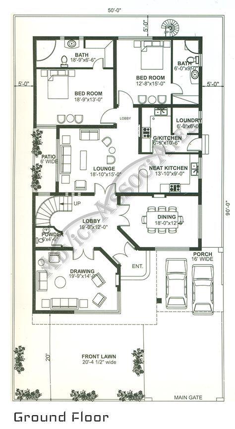 42 Trendy House Design Plans Pakistan House Map 10 Marla House Plan Home Map Design