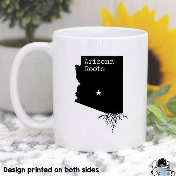 Arizona Mug, Arizona Gift, Arizona Map, Arizona Coffee Mug, Arizona State Mug, Arizona Roots Mug, Lo