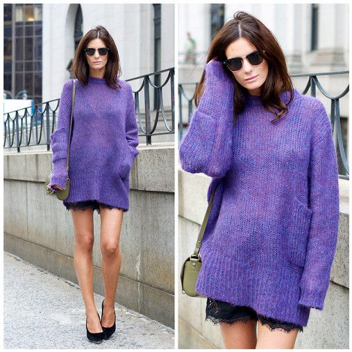 sweater over lace
