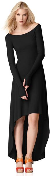 Longsleeve Boatneck Highlow Maxi - Lyst love the simplicity and thumb holes