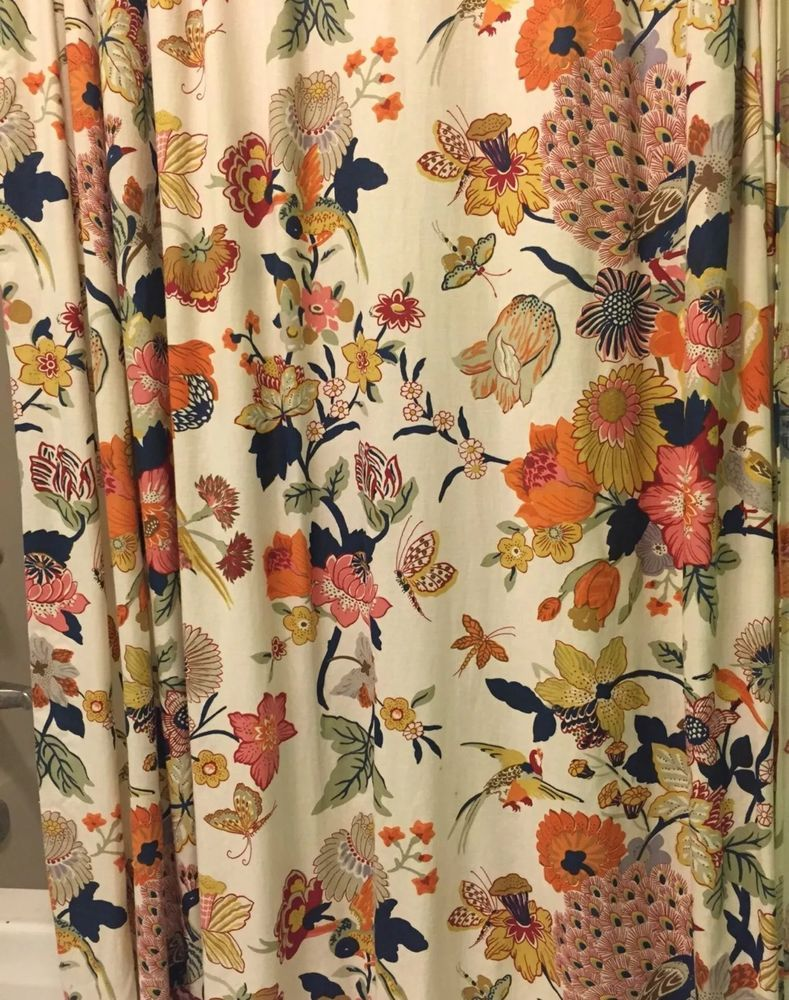 curtain b departments bird bq diy tropical shower multicolour q birds curtains prd l mm at