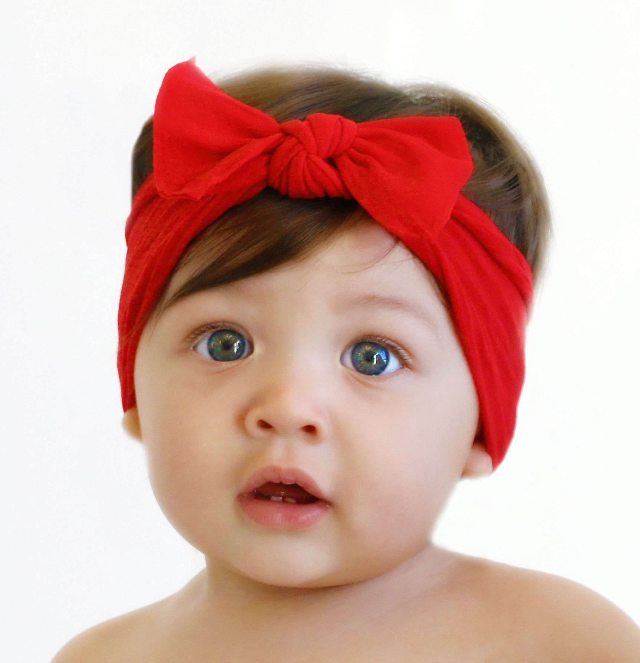 Cherry knot baby bling bows diy baby bows stretchy