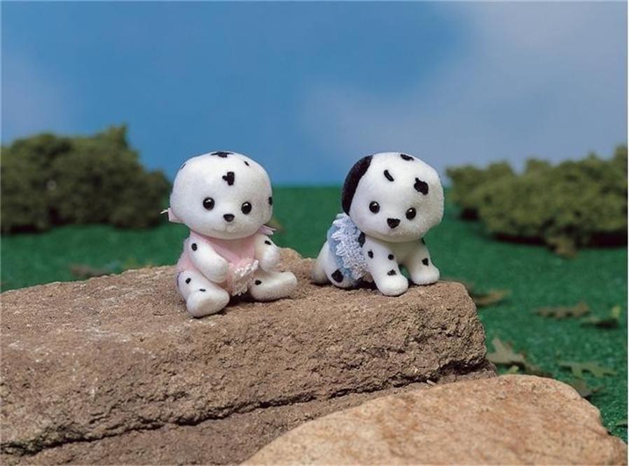 calico critters  cc1638 dalmatian dog twins