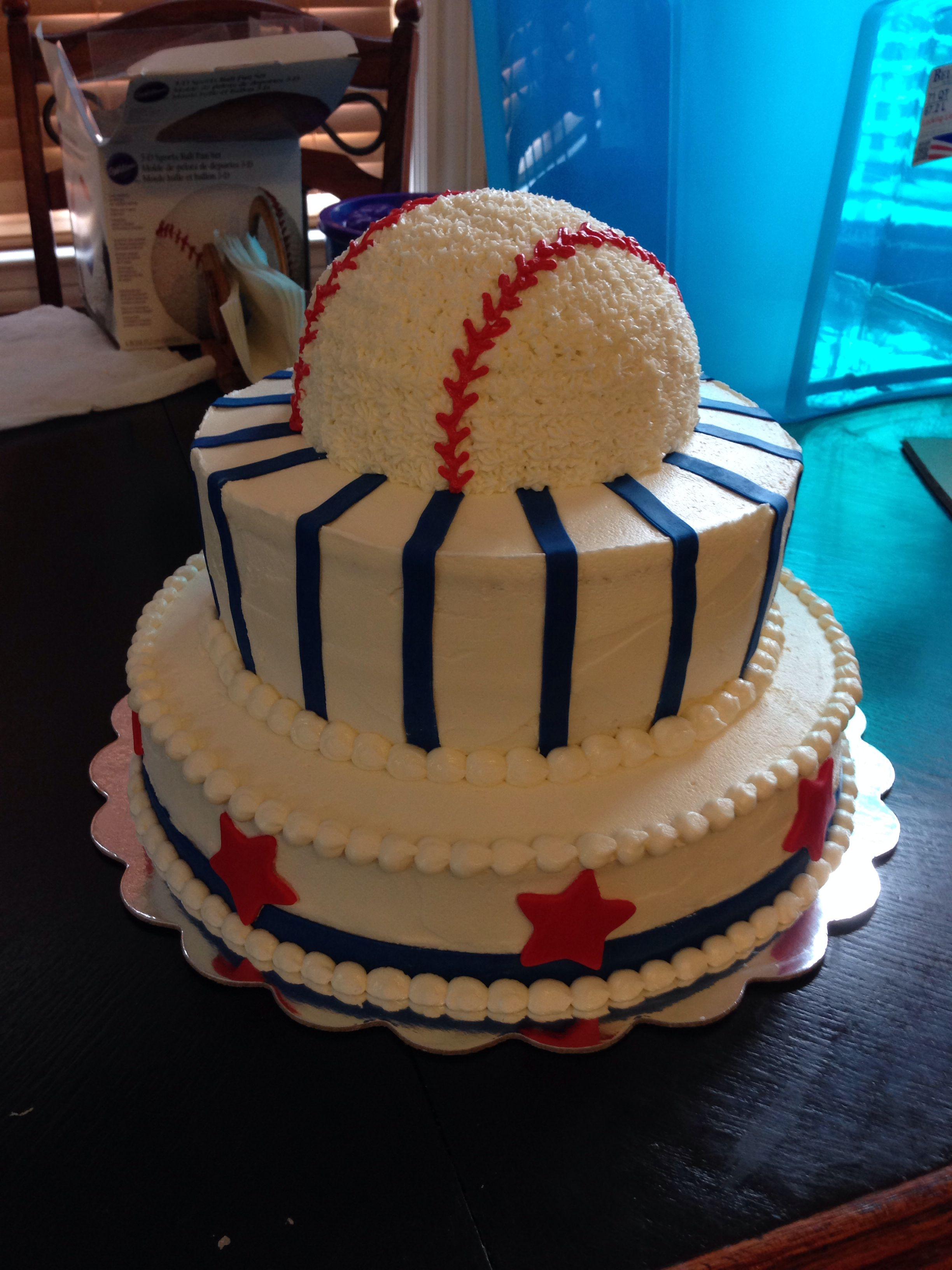 Baseball baby shower cake Baseball baby shower cake
