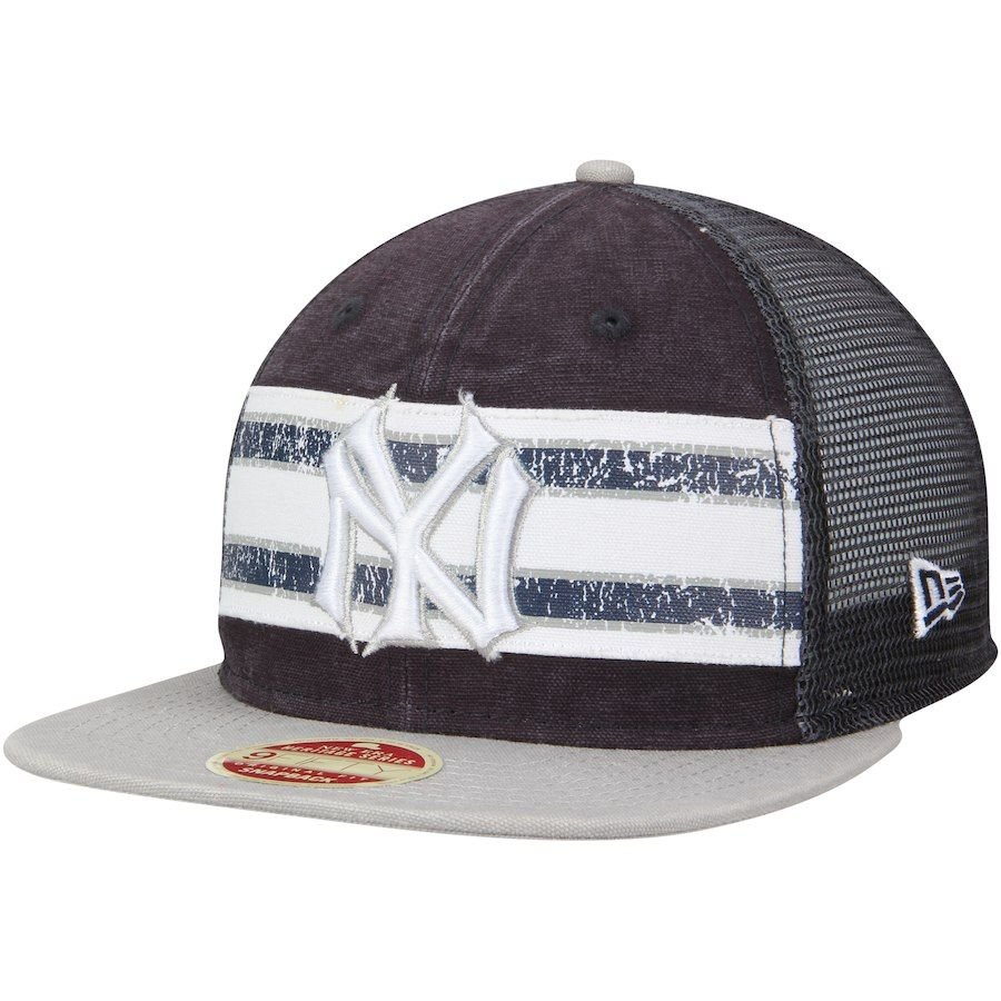 e43906253a06a2 Men's New York Yankees New Era Navy/Gray Vintage Throwback Stripe 9FIFTY  Adjustable Snapback Hat, Your Price: $25.99