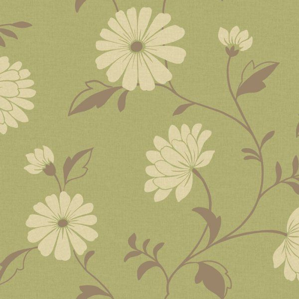 Wallpaper In Cream And Brown
