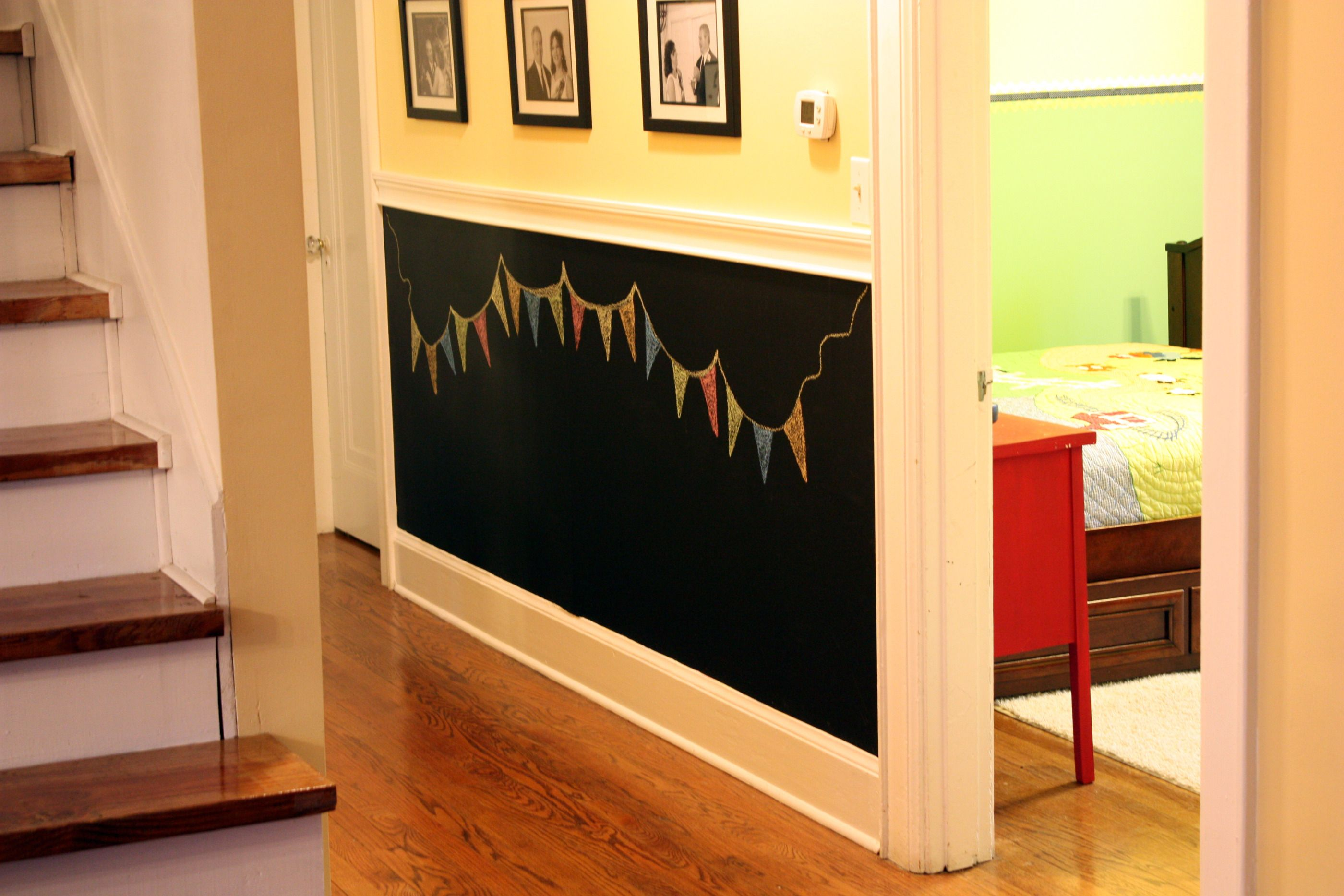 chalkboard wall, if i had had this when they were small they prob ...