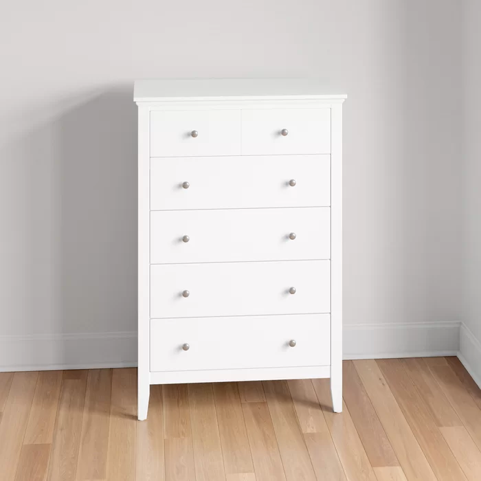Fordwich 5 Drawer 32 W Chest White Chest Of Drawers Wide Chest Of Drawers Chest Of Drawers White White wooden chest of drawers