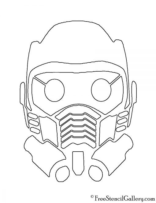 Guardians Of The Galaxy Star Lord Mask Stencil Star Lord Starlord Mask Galaxy Drawings