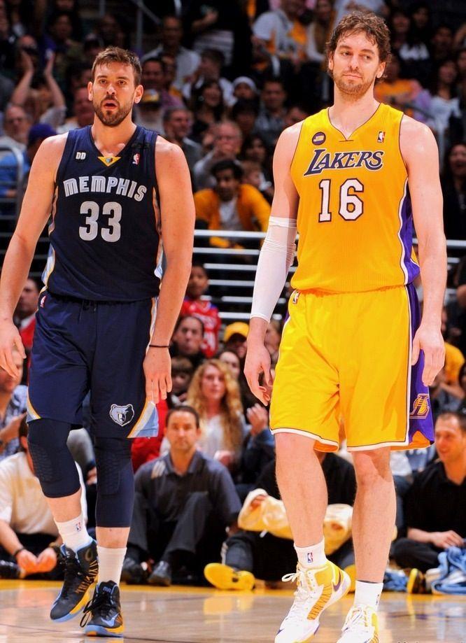 Pau Gasol Los Angeles Lakers & Marc Gasol Memphis Grizzlies