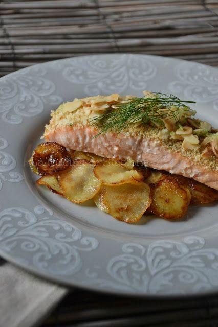 Tagliata di salmone al limone verde e mandorle salmone for Cucinare tagliata