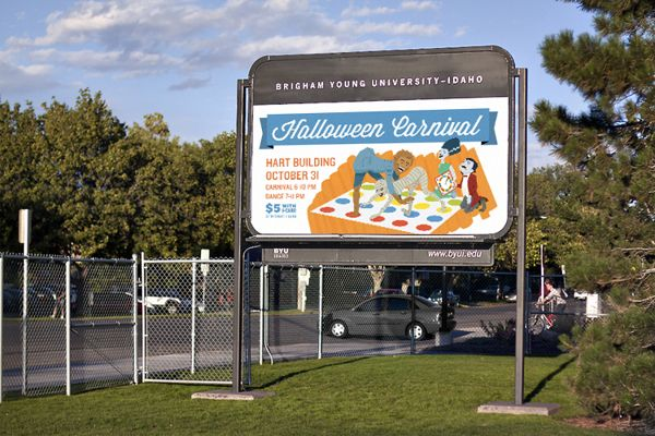 Illustrated Billboard, Halloween by Kevin Delgado, via Behance