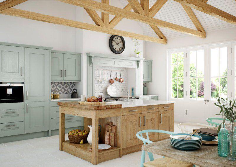 Cuisine rustique contemporaine\u2013 50 idées de meubles en bois Kitchens