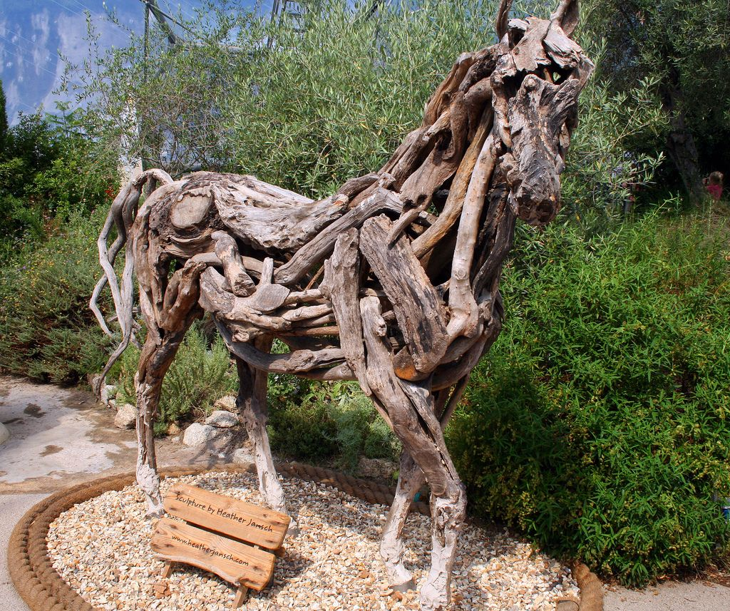 Driftwood Sculpture In The Eden Project In Cornwall England