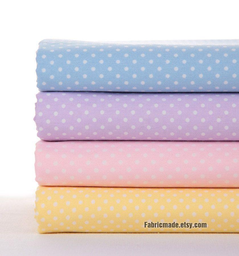 Pastel Fabric with White Polka Dot Cotton Fabric Light Blue Purple ... : polka dot quilt fabric - Adamdwight.com