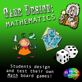 Learn About What Makes A Good Game And Then Design One To Review Math Skills Learned Lots Of Teacher Support Materials Includ Teacher Support Math Math Bundle