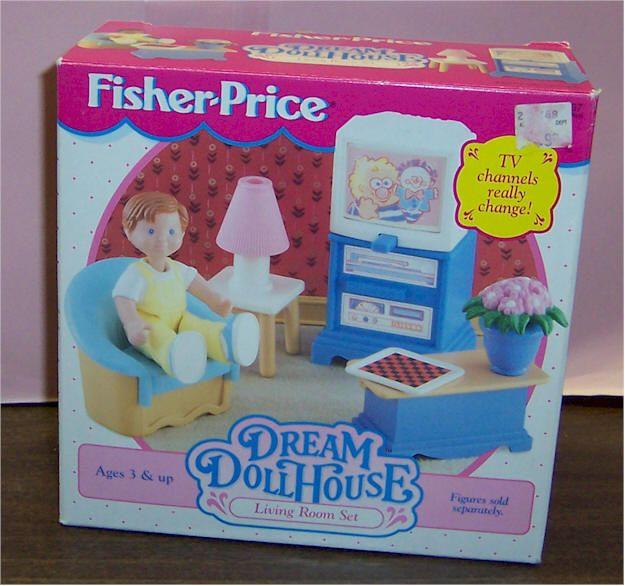 1995 Fisher Price Loving Family Dream Dollhouse Living Room Set