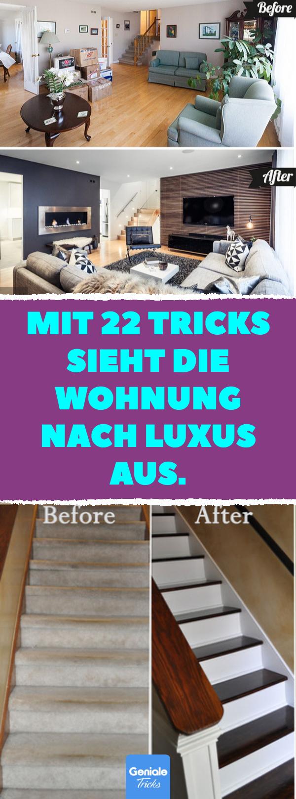 Mit 22 Tricks sieht die Wohnung nach Luxus aus. #hausinterieurs