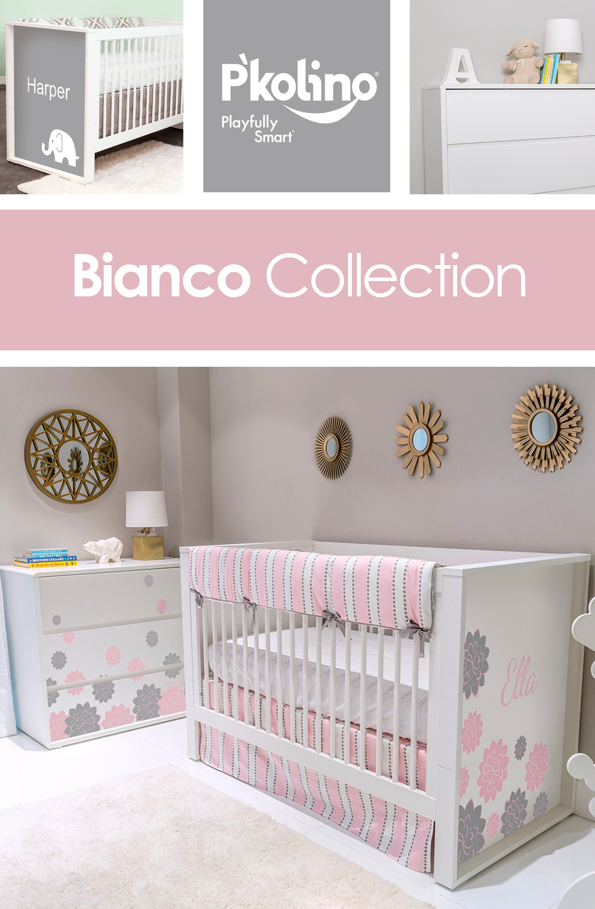 Check Out The Bianco Collection From P Kolino S Nursery Line Liapela