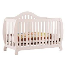 "Stork Craft Monza I Fixed Side Convertible Crib - White - Storkcraft - Babies ""R"" Us"