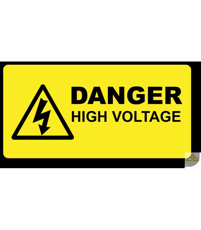 High Warning Voltage Hazard Label Free Transparent Image Hq Electrical Safety Electricity Labels