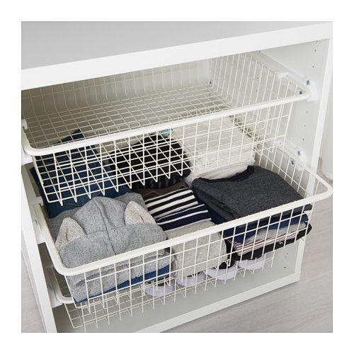 Stuva Grundlig Drahtkorb Weiss Ikea Deutschland Wire Baskets Wire Basket Storage Wire Closet Organizers
