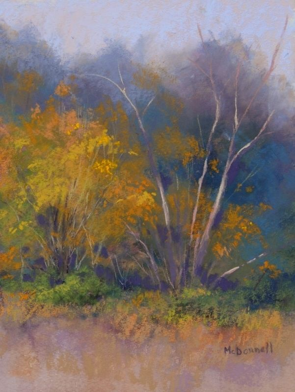 Autumn Trees#3 by Kathy McDonnell Pastel ~ 12' x 9""