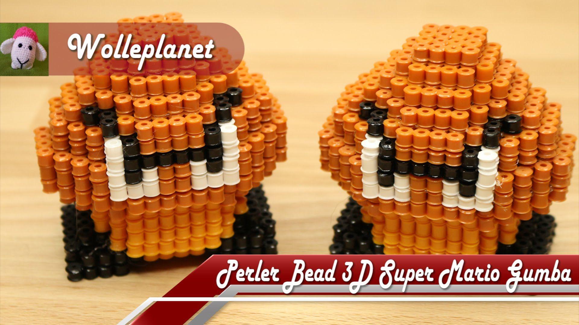 Perler Bead 3D Super Mario Gumba