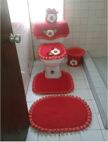 Juegos de ba o en toalla 6 piezas obsequio caneca basura for Objetivo de bano de basura