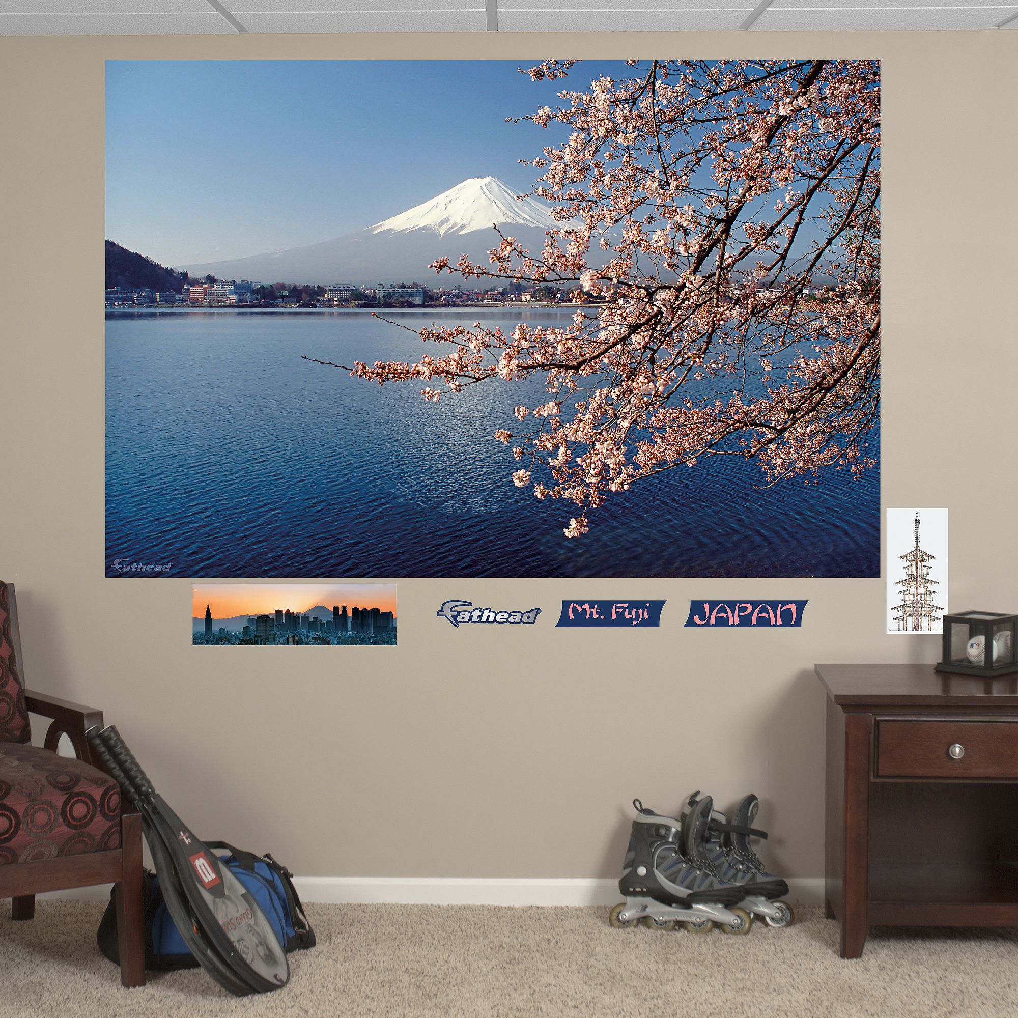 Mt Fuji Mural Mural Wall Decals Japanese Wall