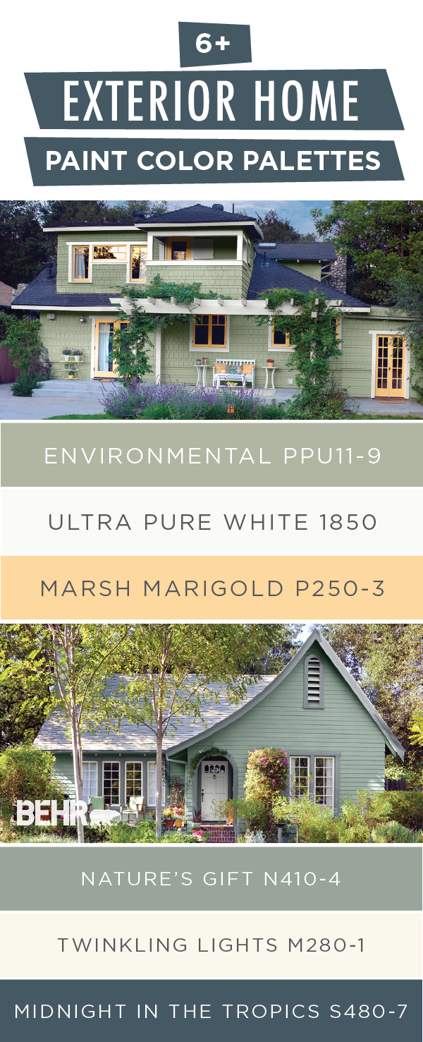 Looking To Upgrade Your Curb Appeal Behr Can Help This Collection Of Exterior Home Paint Palettes Exterior House Colors House Exterior Home Exterior Makeover