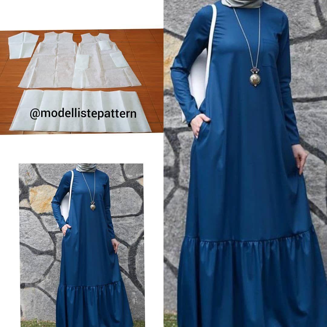 Gamis Pattern Line Dress Sewing Patterns Maxi Dress Pattern Girls Dress Sewing Patterns